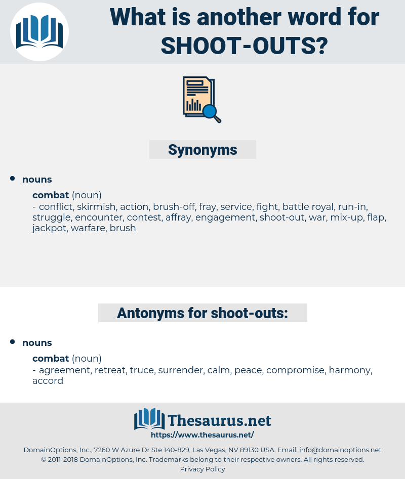 shoot outs, synonym shoot outs, another word for shoot outs, words like shoot outs, thesaurus shoot outs