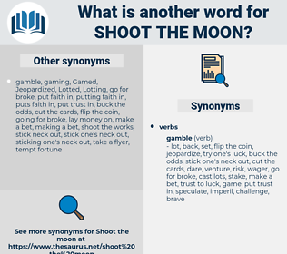 shoot the moon, synonym shoot the moon, another word for shoot the moon, words like shoot the moon, thesaurus shoot the moon