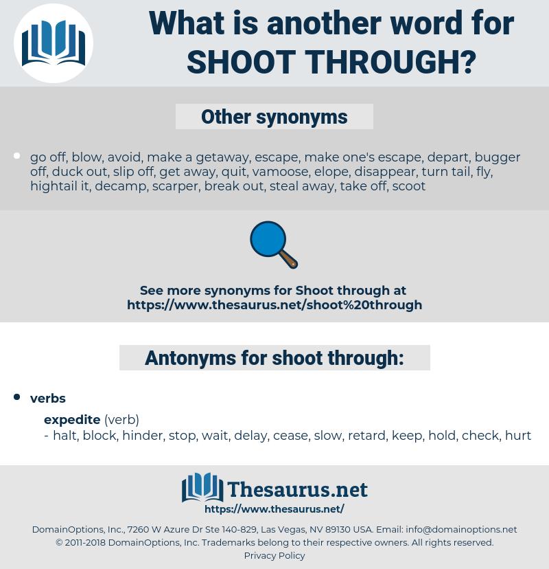 shoot through, synonym shoot through, another word for shoot through, words like shoot through, thesaurus shoot through