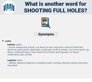 shooting full holes, synonym shooting full holes, another word for shooting full holes, words like shooting full holes, thesaurus shooting full holes