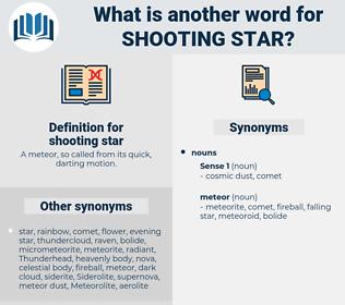 shooting star, synonym shooting star, another word for shooting star, words like shooting star, thesaurus shooting star