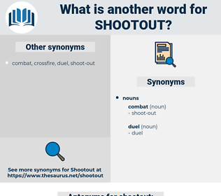 shootout, synonym shootout, another word for shootout, words like shootout, thesaurus shootout