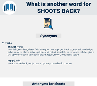 shoots back, synonym shoots back, another word for shoots back, words like shoots back, thesaurus shoots back