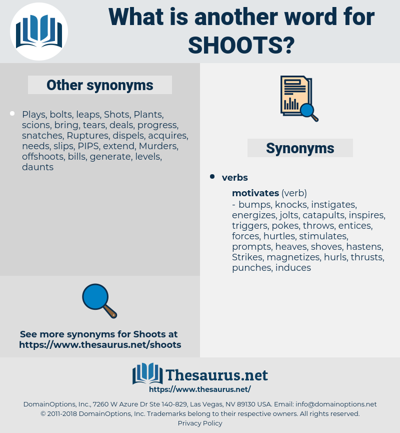 shoots, synonym shoots, another word for shoots, words like shoots, thesaurus shoots