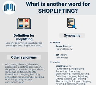 shoplifting, synonym shoplifting, another word for shoplifting, words like shoplifting, thesaurus shoplifting