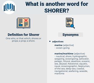 Shorer, synonym Shorer, another word for Shorer, words like Shorer, thesaurus Shorer
