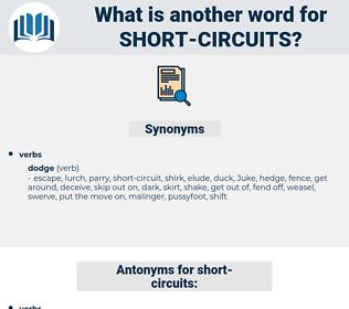 short circuits, synonym short circuits, another word for short circuits, words like short circuits, thesaurus short circuits