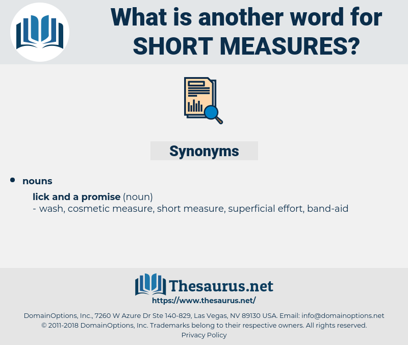 short measures, synonym short measures, another word for short measures, words like short measures, thesaurus short measures