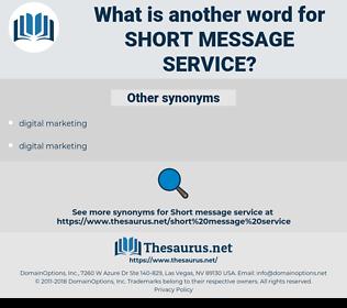 short message service, synonym short message service, another word for short message service, words like short message service, thesaurus short message service