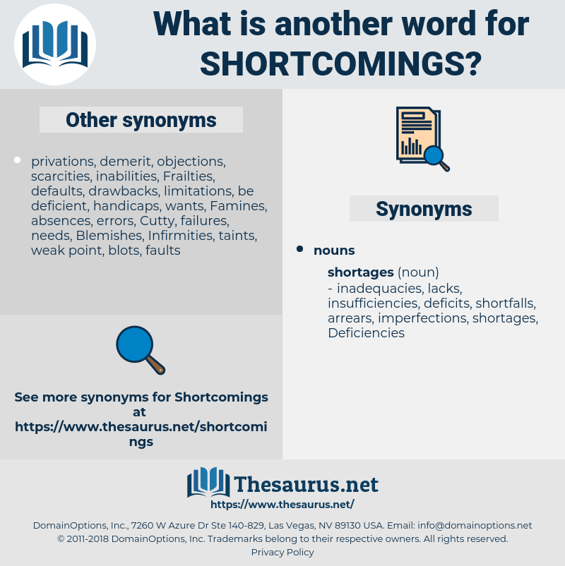 shortcomings, synonym shortcomings, another word for shortcomings, words like shortcomings, thesaurus shortcomings