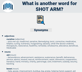 shot arm, synonym shot arm, another word for shot arm, words like shot arm, thesaurus shot arm
