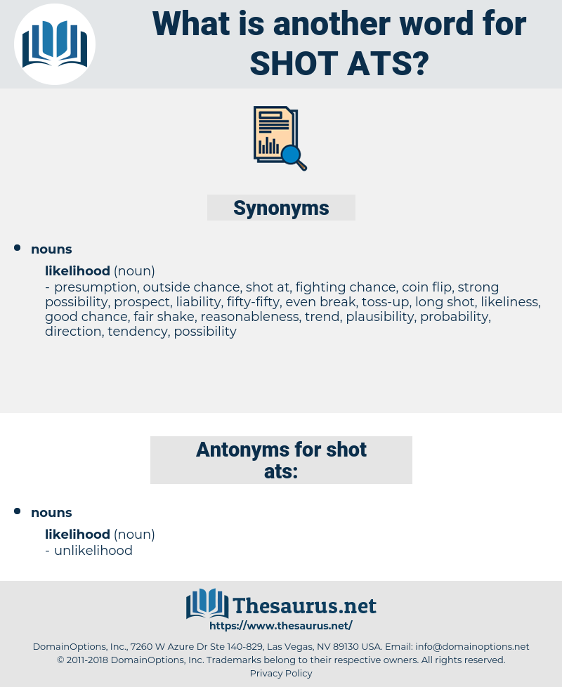 shot ats, synonym shot ats, another word for shot ats, words like shot ats, thesaurus shot ats