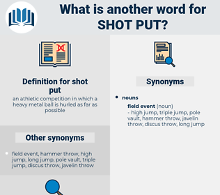 shot put, synonym shot put, another word for shot put, words like shot put, thesaurus shot put