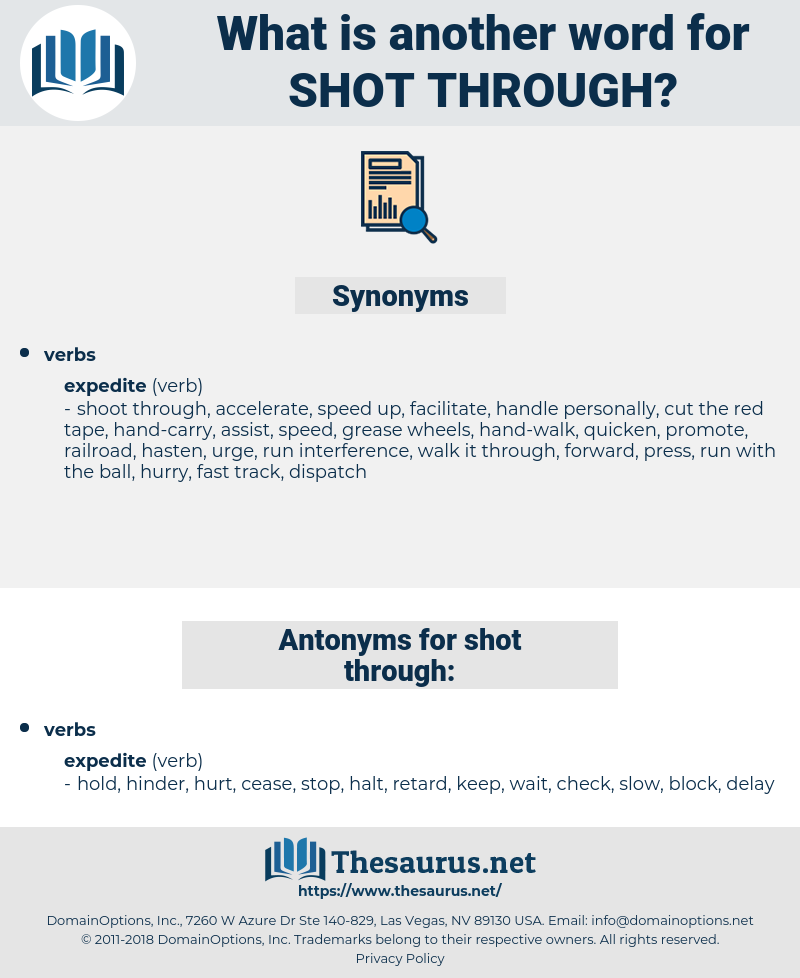 shot through, synonym shot through, another word for shot through, words like shot through, thesaurus shot through