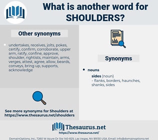 shoulders, synonym shoulders, another word for shoulders, words like shoulders, thesaurus shoulders