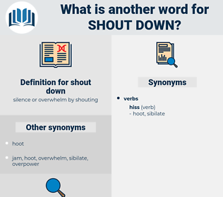 shout down, synonym shout down, another word for shout down, words like shout down, thesaurus shout down