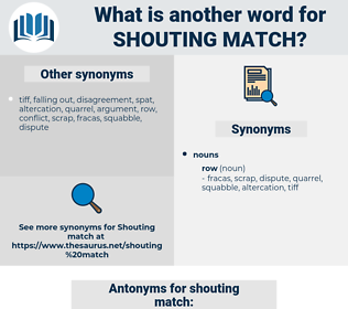 shouting match, synonym shouting match, another word for shouting match, words like shouting match, thesaurus shouting match