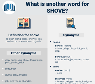 shove, synonym shove, another word for shove, words like shove, thesaurus shove