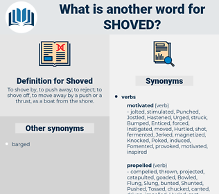 Shoved, synonym Shoved, another word for Shoved, words like Shoved, thesaurus Shoved