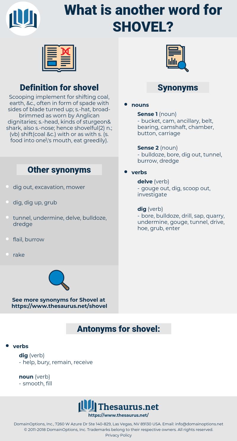 shovel, synonym shovel, another word for shovel, words like shovel, thesaurus shovel