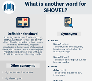 shovel, synonym shovel, another word for shovel, words like shovel, thesaurus shovel