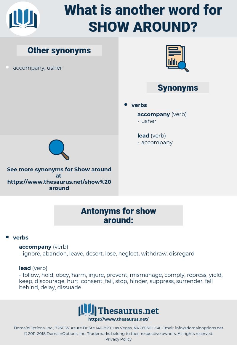 show around, synonym show around, another word for show around, words like show around, thesaurus show around