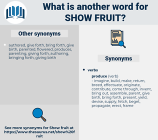 show fruit, synonym show fruit, another word for show fruit, words like show fruit, thesaurus show fruit
