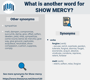 show mercy, synonym show mercy, another word for show mercy, words like show mercy, thesaurus show mercy