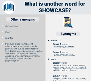 showcase, synonym showcase, another word for showcase, words like showcase, thesaurus showcase