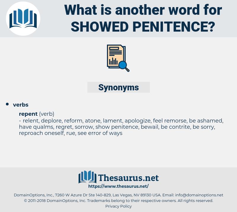 showed penitence, synonym showed penitence, another word for showed penitence, words like showed penitence, thesaurus showed penitence