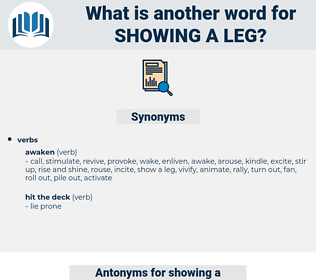 showing a leg, synonym showing a leg, another word for showing a leg, words like showing a leg, thesaurus showing a leg