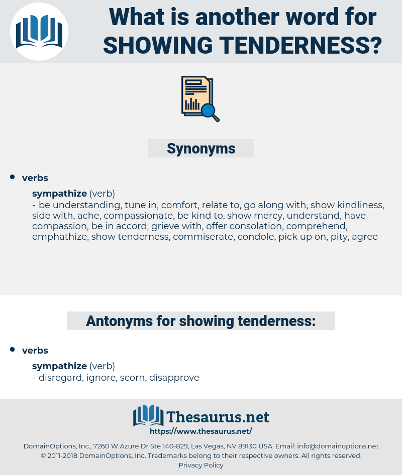 showing tenderness, synonym showing tenderness, another word for showing tenderness, words like showing tenderness, thesaurus showing tenderness