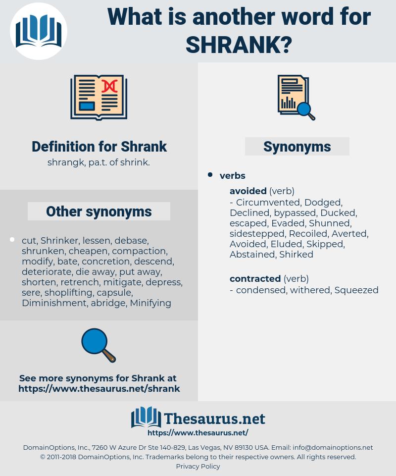 Shrank, synonym Shrank, another word for Shrank, words like Shrank, thesaurus Shrank