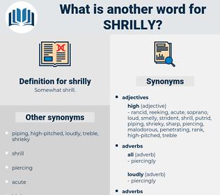 shrilly, synonym shrilly, another word for shrilly, words like shrilly, thesaurus shrilly