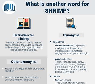shrimp, synonym shrimp, another word for shrimp, words like shrimp, thesaurus shrimp