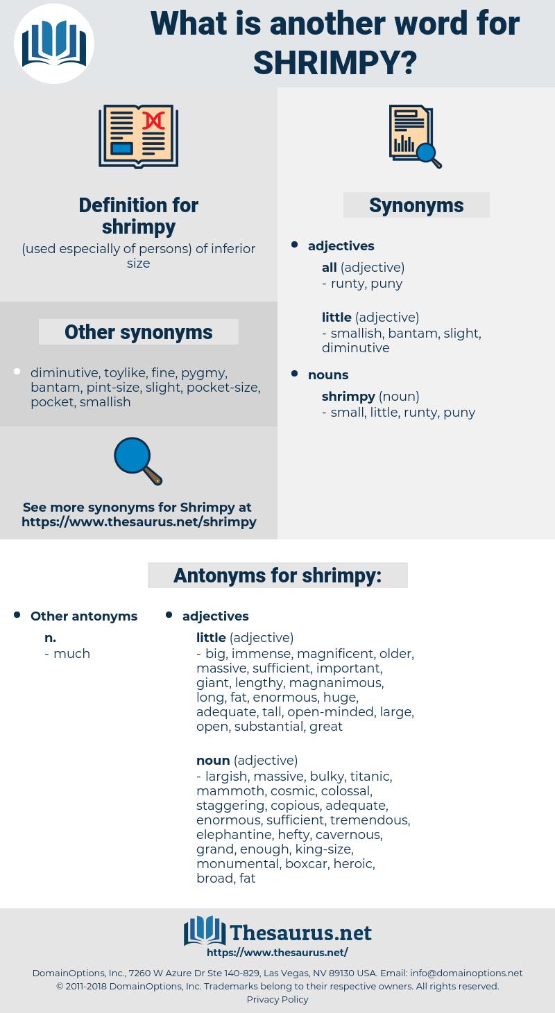 shrimpy, synonym shrimpy, another word for shrimpy, words like shrimpy, thesaurus shrimpy