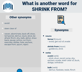 shrink from, synonym shrink from, another word for shrink from, words like shrink from, thesaurus shrink from