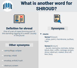 shroud, synonym shroud, another word for shroud, words like shroud, thesaurus shroud