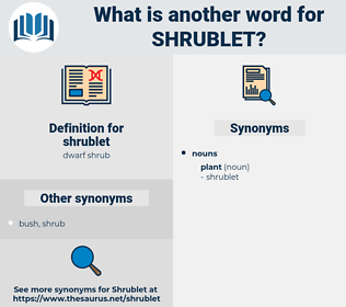 shrublet, synonym shrublet, another word for shrublet, words like shrublet, thesaurus shrublet