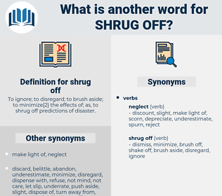 shrug off, synonym shrug off, another word for shrug off, words like shrug off, thesaurus shrug off