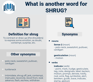 shrug, synonym shrug, another word for shrug, words like shrug, thesaurus shrug