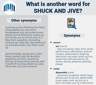 shuck and jive, synonym shuck and jive, another word for shuck and jive, words like shuck and jive, thesaurus shuck and jive