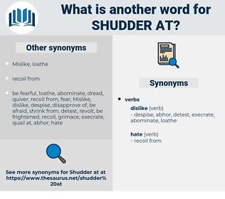 shudder at, synonym shudder at, another word for shudder at, words like shudder at, thesaurus shudder at