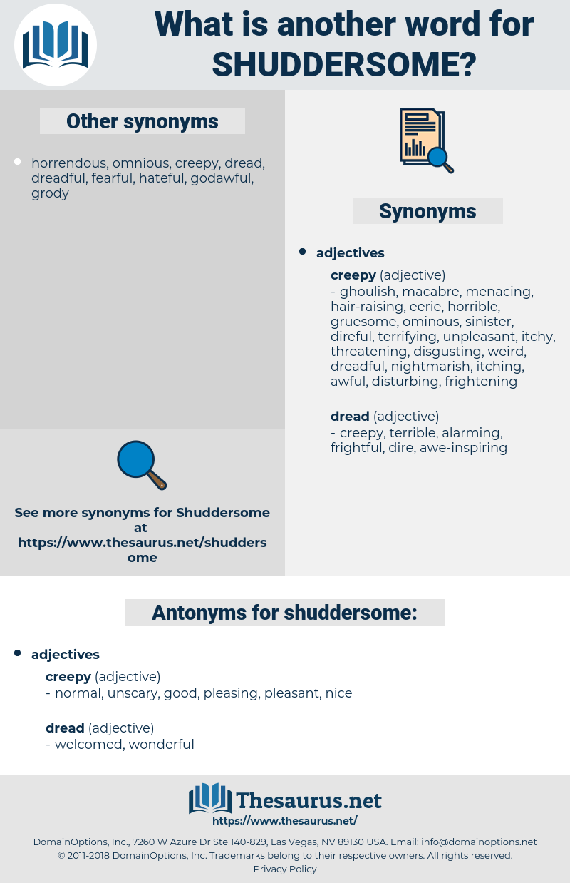 shuddersome, synonym shuddersome, another word for shuddersome, words like shuddersome, thesaurus shuddersome