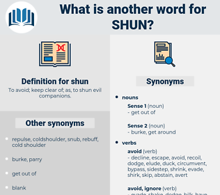 shun, synonym shun, another word for shun, words like shun, thesaurus shun