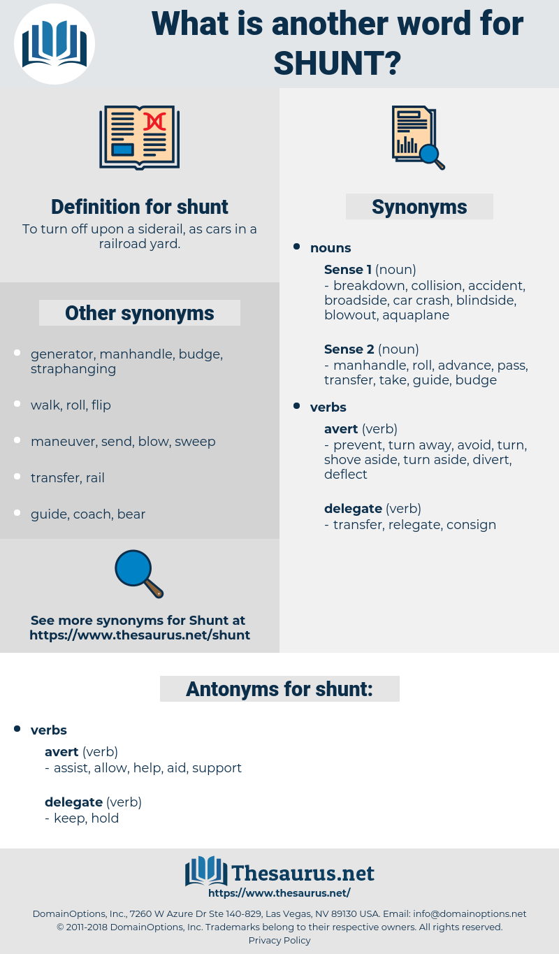 shunt, synonym shunt, another word for shunt, words like shunt, thesaurus shunt
