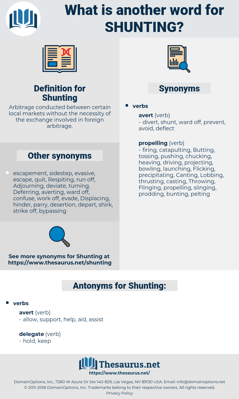 Shunting, synonym Shunting, another word for Shunting, words like Shunting, thesaurus Shunting