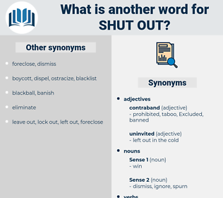 shut out, synonym shut out, another word for shut out, words like shut out, thesaurus shut out