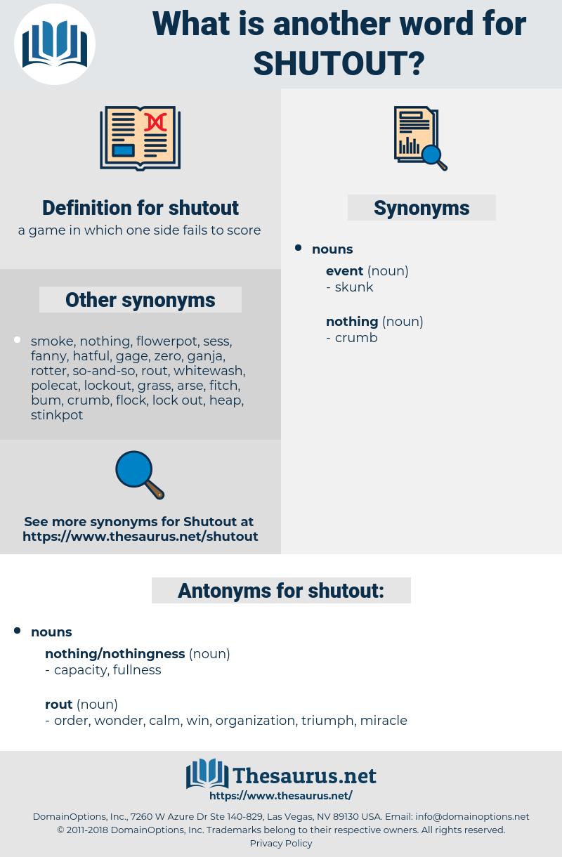 shutout, synonym shutout, another word for shutout, words like shutout, thesaurus shutout