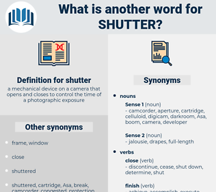 shutter, synonym shutter, another word for shutter, words like shutter, thesaurus shutter